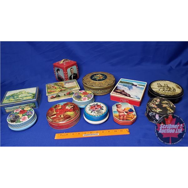 Tray Lot: Biscuit & Candy Tins (12) (See Pics!)