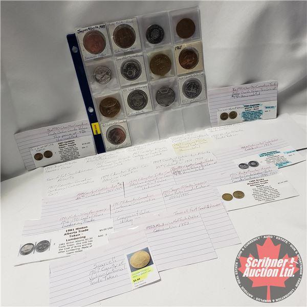 Variety Trade Dollars/Medallions/Tokens (13) (See Pics)