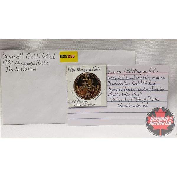 1981 Niagara Falls (Gold Plated) Trade Dollar