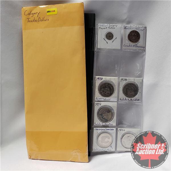 Calgary Trade Dollars (7): Variety (See Pics)
