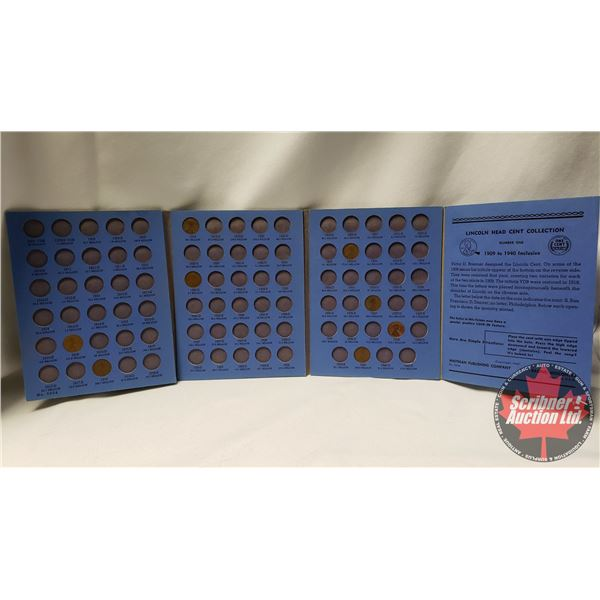 Lincoln Head Cent Collection in Whitman Folder (8 Coins) (Not complete) : 1916; 1918; 1919; 1923S; 1