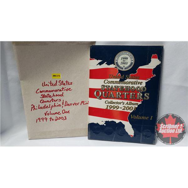United States Commemorative Statehood Quarters Collector Album - Volume One 1999 - 2003 (50 Coins)