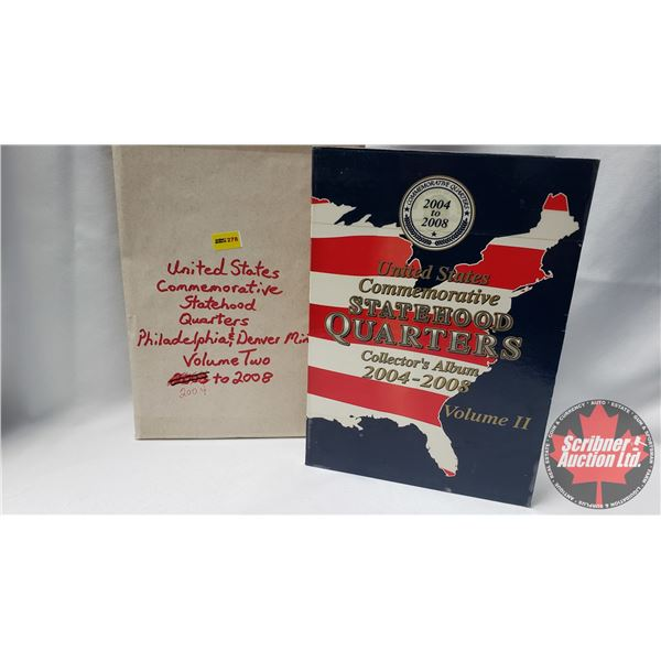 United States Commemorative Statehood Quarters Collector Album - Volume Two 2004 to 2008 (50 Coins)