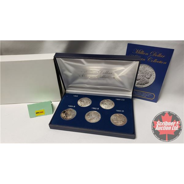 """""""Million Dollar Morgan Collection"""" Five Coin Tribute Proof Set"""