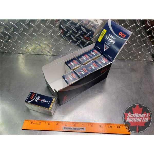 AMMO: CCI V-MAX 17HMR - 17gr (8 Boxes of 50 = 400 Rnds Total)