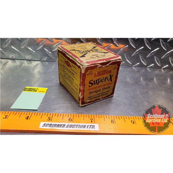 "AMMO: Vintage : Western Super X : 410ga 3"" (5 Shot) (1 Box of 25)"