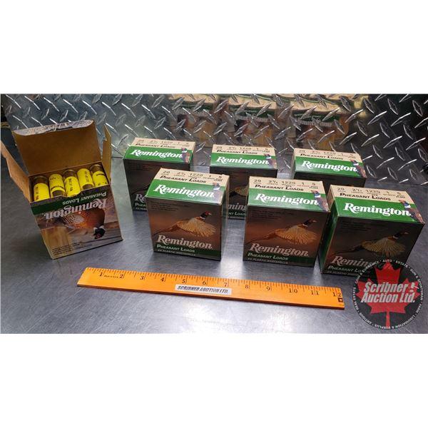 AMMO: Remington Pheasant Loads 20ga (2-3/4 ) 1oz : 5 Shot (7 Boxes of 25 = 175 Rnds Total)