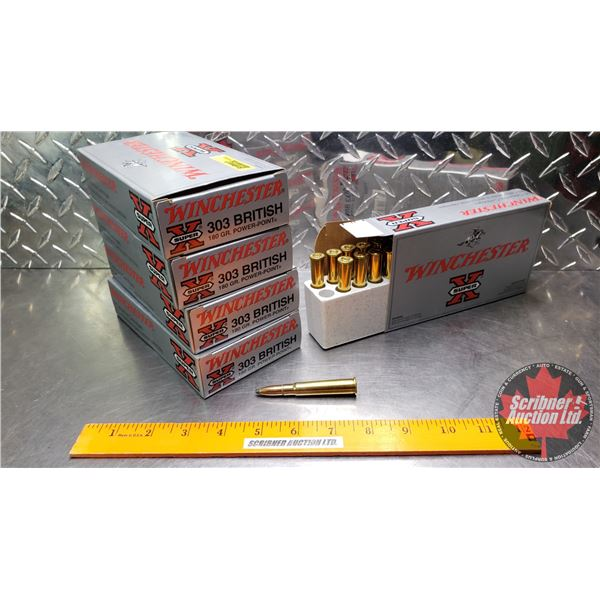 AMMO: Winchester Super X : 303 British (180gr) (5 Boxes of 20 = 100 Rnds Total)