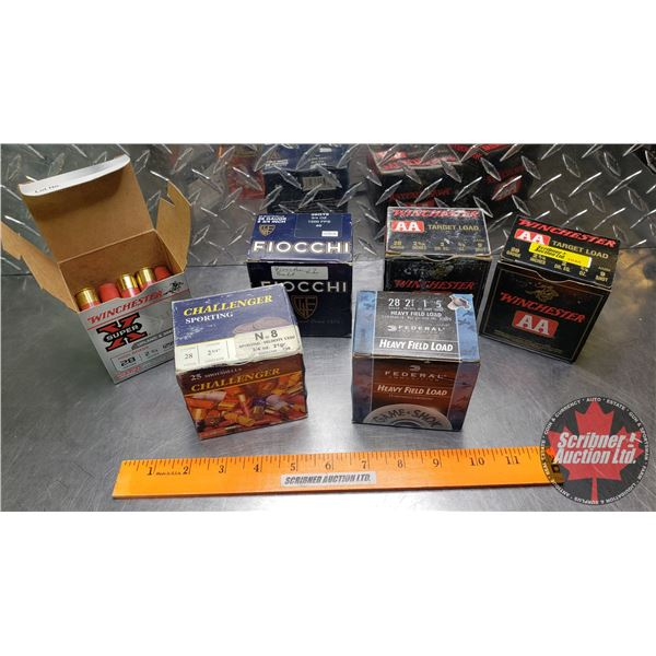 """AMMO: Variety Pack of 28ga (2-3/4"""") (6 Boxes of 25 = 150 Rnds Total)"""