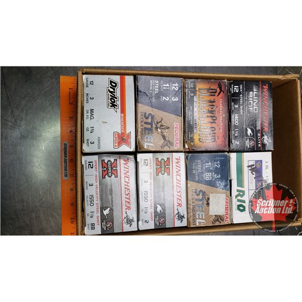 """AMMO: Variety Pack of 12ga (3"""") (8 Boxes of 25 = 200 Rnds Total)"""