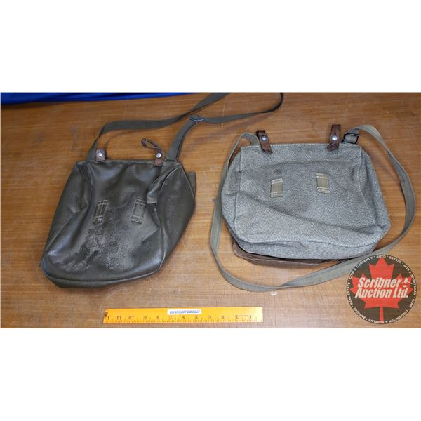 Tray Lot: Military Canvas Bags (2)