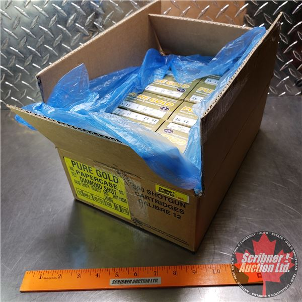 """AMMO: Case Lot: Pure Gold High Performance Game Load 12ga (2-1/2"""") 28 Grams : 6 Shot (10 Boxes of 25"""