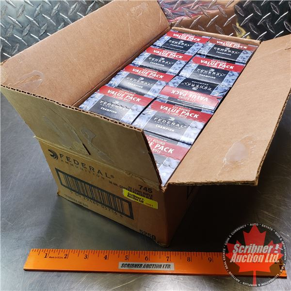 AMMO: Case Lot: Federal Ammunition 22LR (36gr Hollow Point) (10 Boxes of 525 = 5250 Rnds Total)