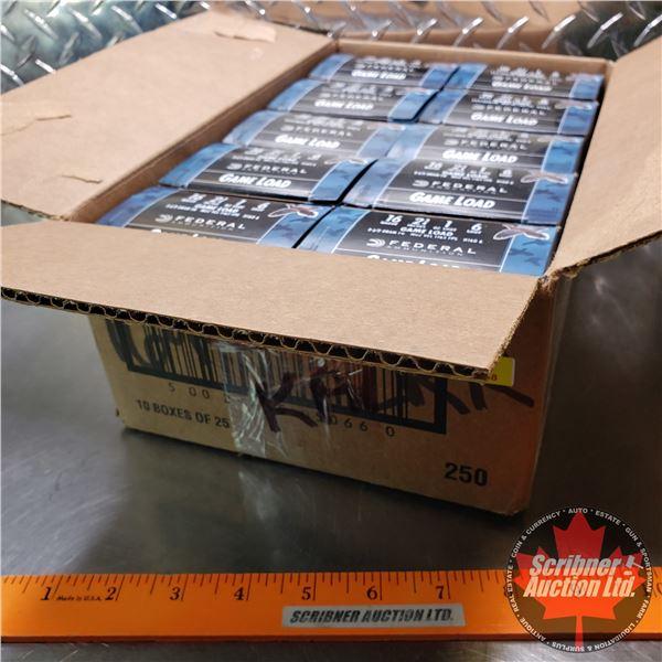 "AMMO: Case Lot: Federal Game Load 16ga (2-3/4"") 1oz : 6 Shot (10 Boxes of 25 = 250 Rnds Total)"