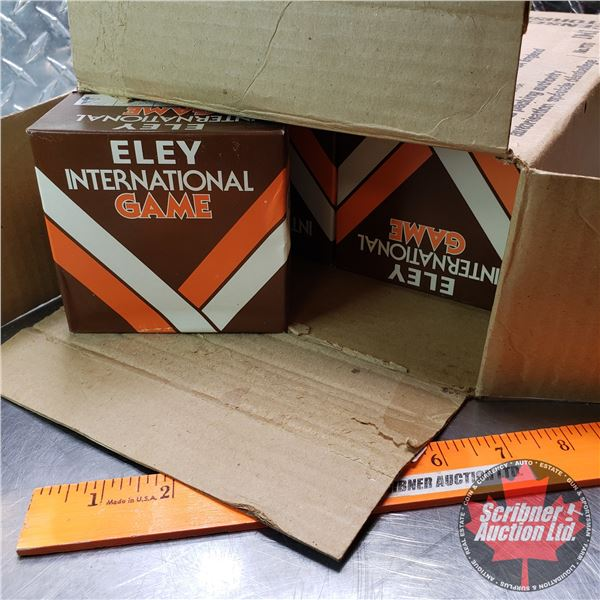"AMMO: Case Lot: Eley International Game 12ga (2-3/4"") 1-1/4oz : 4 Shot (9 Boxes of 25 = 225 Rnds Tot"