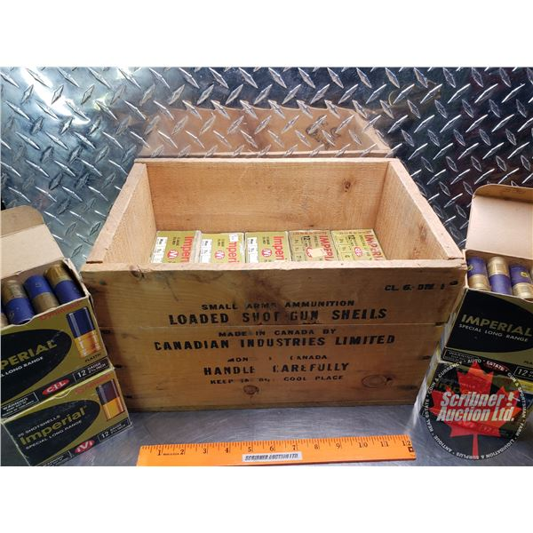 """AMMO: Box Lot: Imperial 12ga (2-3/4"""") 1-1/4oz Variety Shot (14 Boxes of 25 = 350 Total) with Vintage"""