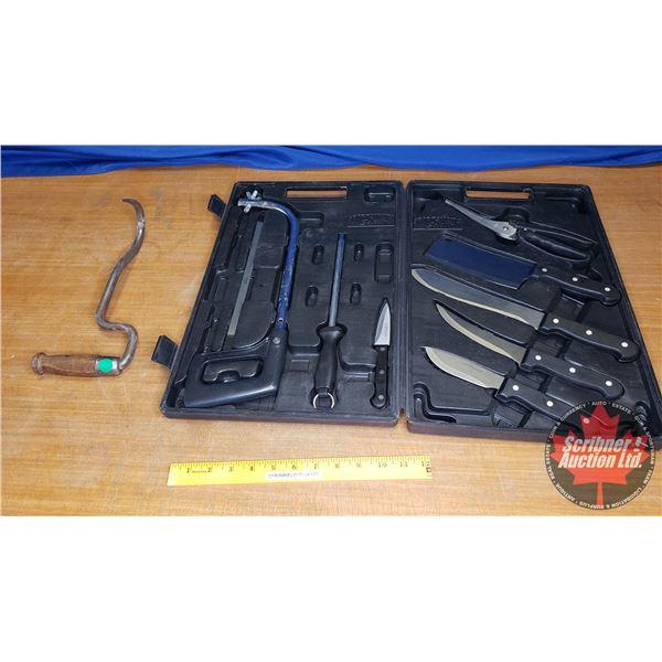 Knife Set - Sportsman Select 8pc in Plastic Case & Meat Hook