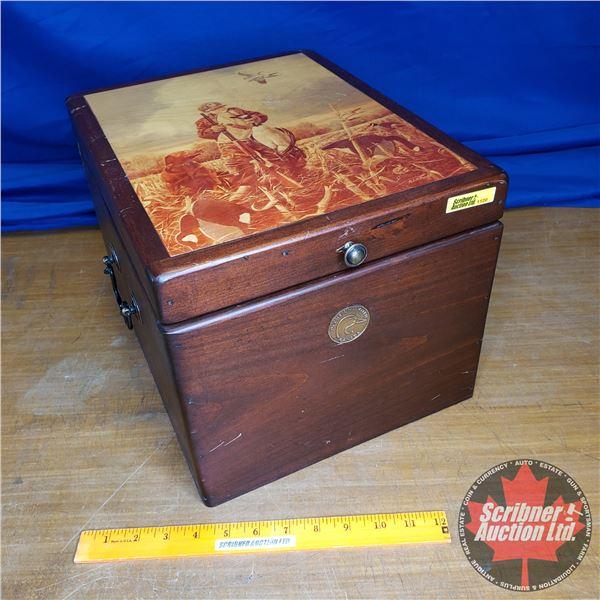 """Ducks Unlimited Decorative Wooden Box (10""""H x 11""""W x 14-1/2""""D)"""