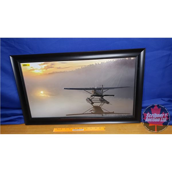 """Limited Edition (4/25) Framed Print """"Float Plane in the Water"""" Signed in Artist (17""""H x 28""""W)"""