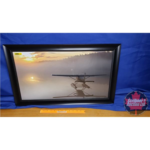 """Limited Edition (5/25) Framed Print """"Float Plane in the Water"""" Signed in Artist (17""""H x 28""""W)"""