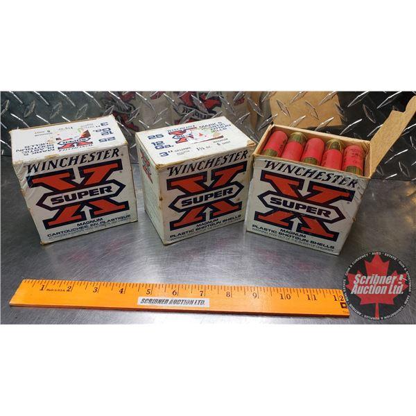 "AMMO: Winchester Super X Mark 5 (12ga 3"") 1-5/8oz : 6 Shot (3 Boxes of 25 = 75 Total)"