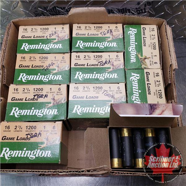 "AMMO: Remington Game Loads 16ga 2-3/4"" (1oz : 6 Shot) (10 Boxes of 25 = 250 Total)"