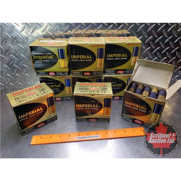 """AMMO: Tray Lot: Imperial 12ga 2-3/4"""" (1-1/4oz Variety Shot) (9 Boxes of 25 = 225 Total)"""