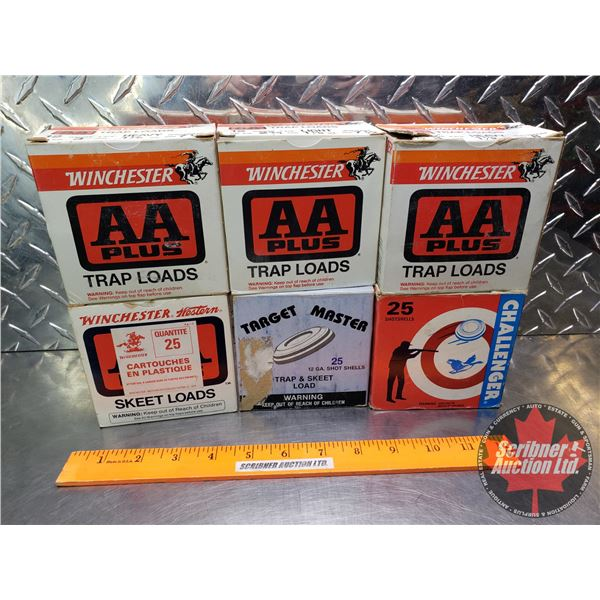 """AMMO: Tray Lot: Trap & Skeet Loads 12ga 2-3/4"""" (Variety Brands - Incl. Winchester, Target Master & C"""