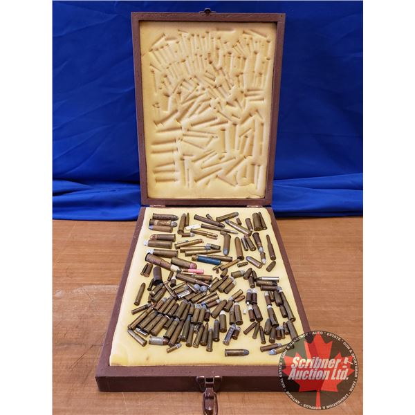 AMMO: Antique Cartridge Collection - Rare from 1800's > (Rimfire & Centerfire) in Wooden Case