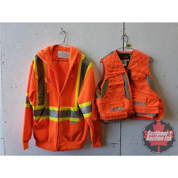 Hi-Vis Fleece Hoodie & Shooting Vest (Size Med)