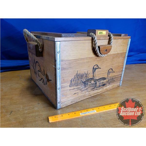 "Ducks Unlimited Decorative Wooden Styrofoam Lined Cooler (11""H x 17""W x 14""D)"