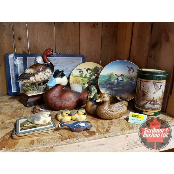 Large Duck Collection : Ornaments, Ducks Unlimited Plates, Coasters, Ducks Unlimited Candle Holder,