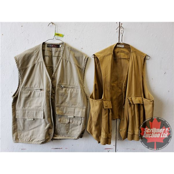 Canvas Game Hunting / Shooting Vests (2) (Size Med)