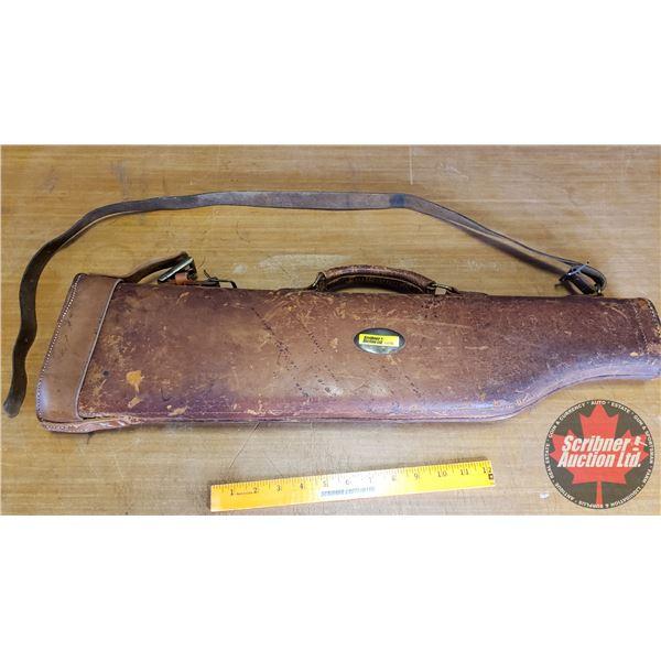 """Leather Takedown Gun Scabbard/Case (26""""L)"""