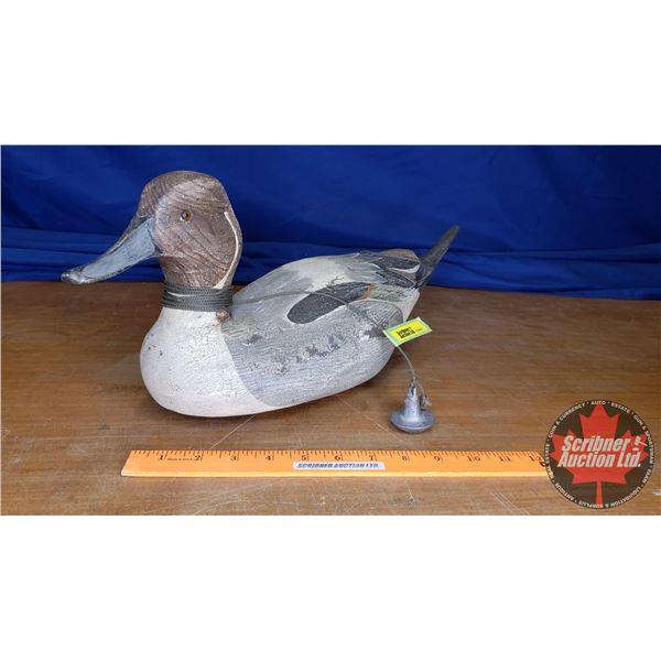"Ducks Unlimited Lac La Croix Collection No. 408 Carved Wooden Duck Decoy (Signed: P. Korman) (8""H x"