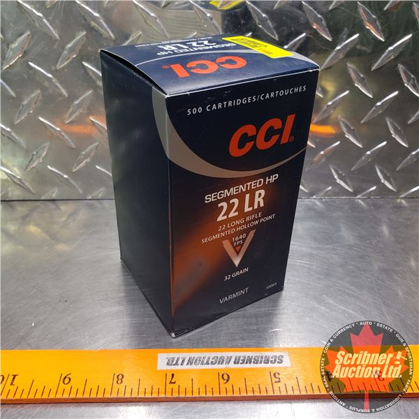 AMMO: Brick : CCI Segmented HP - 22LR Hollow Point 1640FPS (500 Rnds)