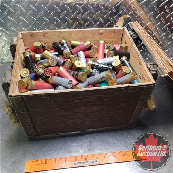 AMMO: Large Variety of Brands 12ga in Wooden Crate (Total Weight 39lbs including Crate)