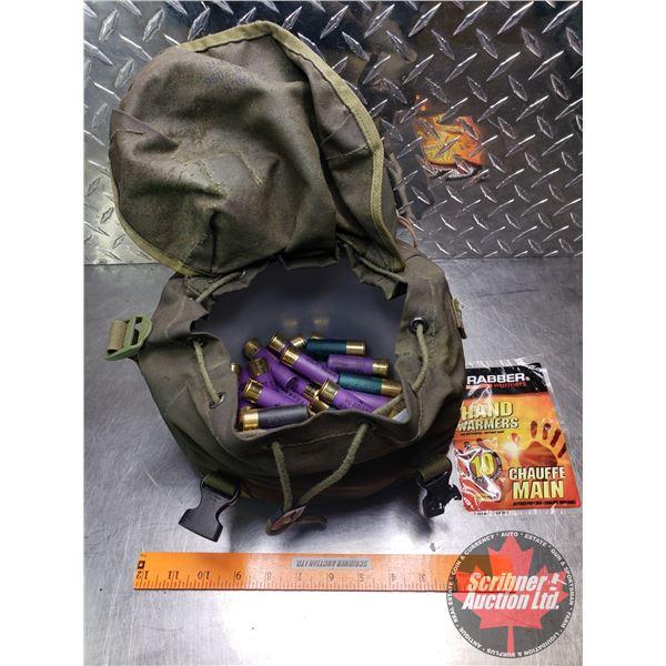 "AMMO: Federal & Remington 16ga 2-3/4"" Canvas Bag (36 Rnds Total) c/w Handwarmers"