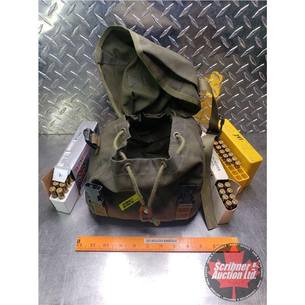 AMMO: Super X Winchester & Dominion 243 Win : Canvas Bag (Total 41 Rnds)