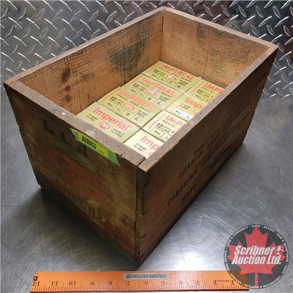"""AMMO: Box Lot: Imperial 12ga (2-3/4"""") 1-1/4oz : 6 Shot (10 Boxes of 25 = 250 Total) with Vintage CIL"""