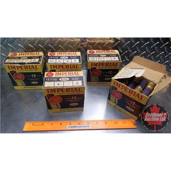 "AMMO: Vintage CIL Imperial Long Range Load 12ga 2-3/4"" (1-1/4oz : 5 Shot) (5 Boxes of 25 = 125 Total"