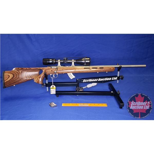 RIFLE: Savage Mark II Bolt 22LR (Laminated Stock, Accu Trigger) (with 2 Clips, Bushnell Scope) (S/N#