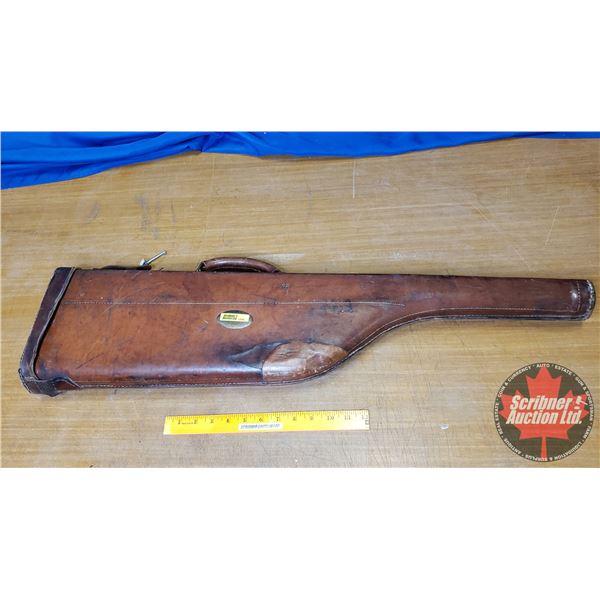 """Leather Takedown Gun Scabbard/Case (32""""L)"""