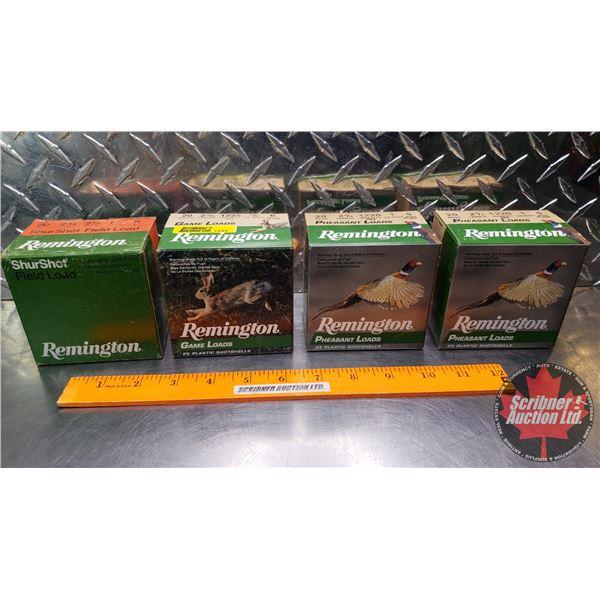 "AMMO: Tray Lot: Remington 20ga 2-3/4"" (Shurshot Field Load 1oz : 6 Shot) (Game Load 7/8oz : 6 Shot)"