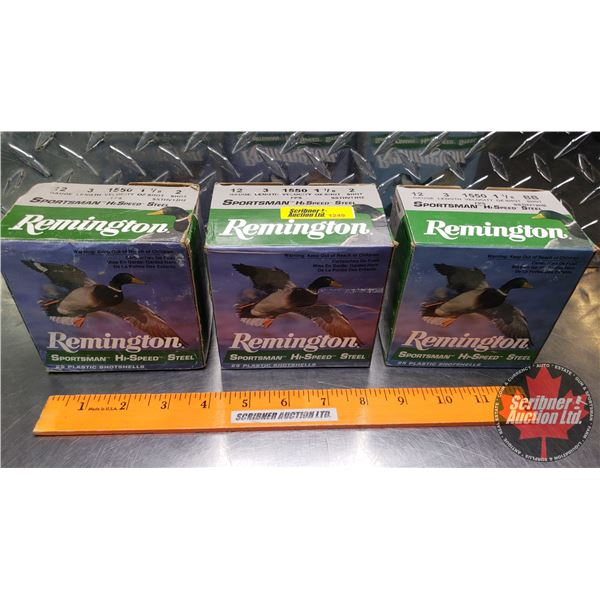 "AMMO: Remington Sportsman Hi-Speed Steel 12ga 3"" (2 Boxes of 1550 FPS Velocity 1-1/8oz : 2 Shot) & ("