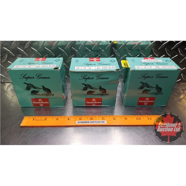 """AMMO: Gamebore Super Game 12ga 2-1/2"""" (73 Total) (1 Box is Paper Cases)"""