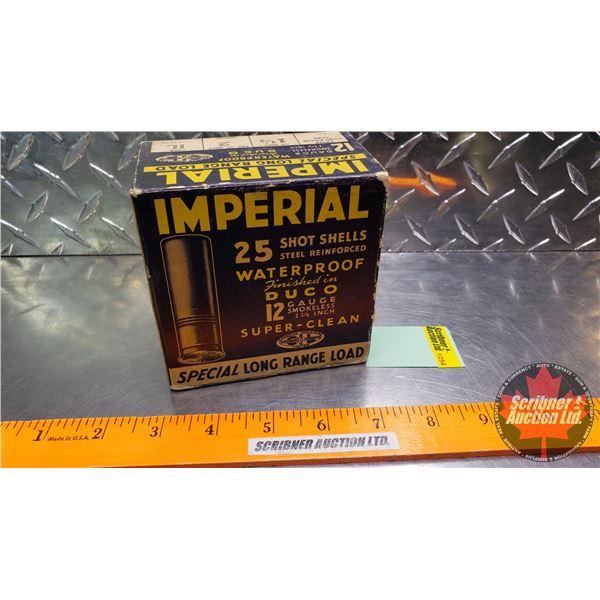 "AMMO: Vintage CIL Imperial Special Long Range Load 12ga 2-3/4"" (1-1/4oz : 2 Shot) (1 Box of 25)"