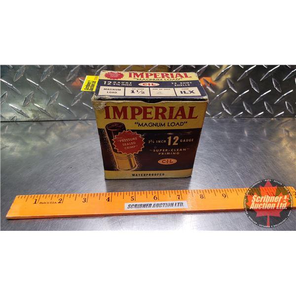 "AMMO: Vintage CIL Imperial ""Magnum Load"" 12ga 2-3/4"" (1-1/2oz : 4 Shot) (Box of 25)"