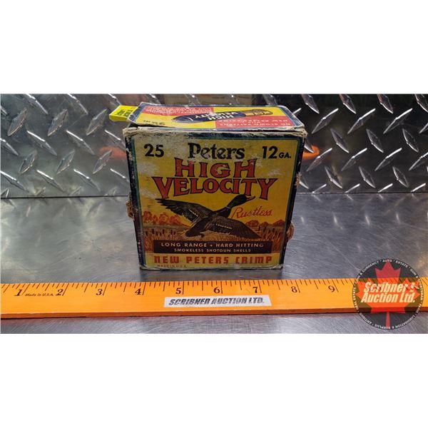 "AMMO: Vintage Peters High Velocity 12ga 2-3/4"" (1-1/4oz : 6 Shot) (1 Box of 25)"