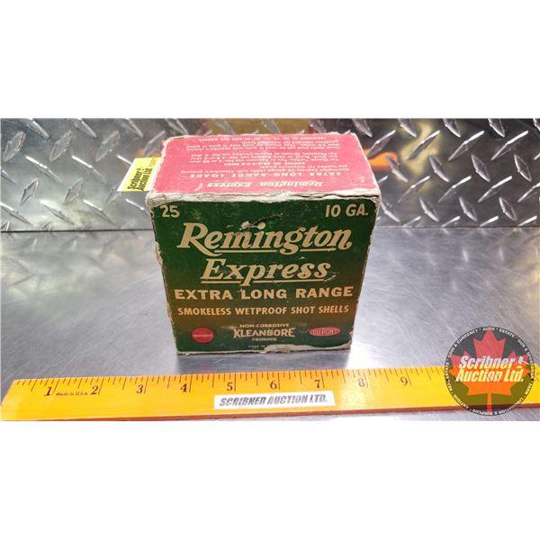 """AMMO: Vintage Remington Express Extra Long Range 10ga 2-7/8"""" (1-5/8oz : 5 Shot) (25 Total)"""